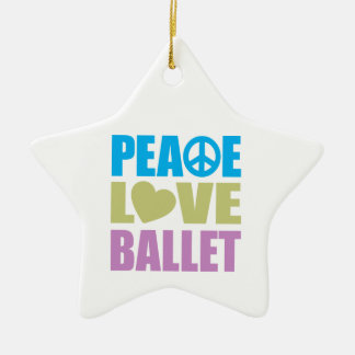 Peace Love Ballet Christmas Ornament