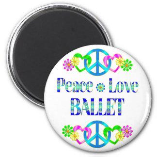 Peace Love Ballet Fridge Magnet