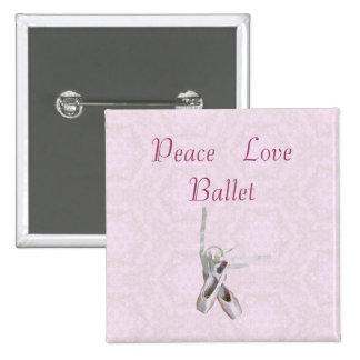 'Peace, Love & Ballet' Lace Button