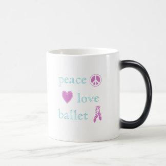 Peace Love Ballet Morphing Mug