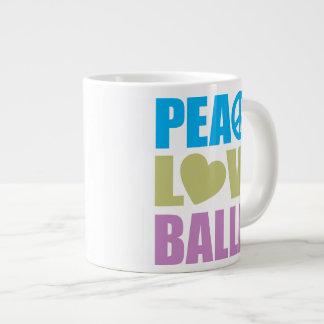 Peace Love Ballet Jumbo Mug
