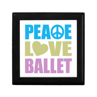 Peace Love Ballet Small Square Gift Box