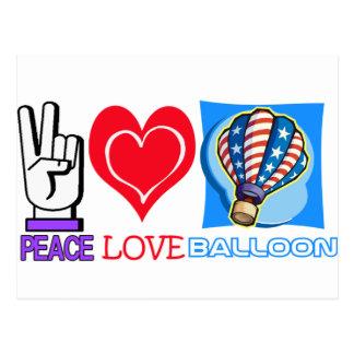 PEACE LOVE BALLOON POSTCARDS
