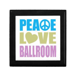 Peace Love Ballroom Small Square Gift Box