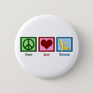Peace Love Bananas 6 Cm Round Badge