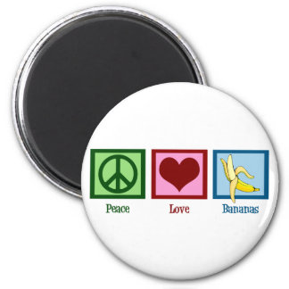 Peace Love Bananas Magnet