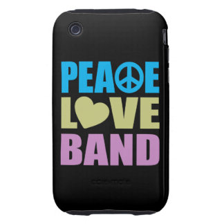 Peace Love Band iPhone 3 Tough Case