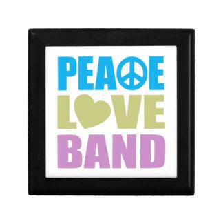 Peace Love Band Keepsake Boxes