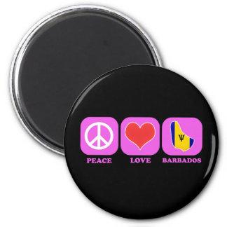 Peace Love Barbados Magnet
