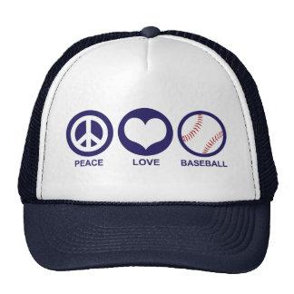 Peace Love Baseball Cap
