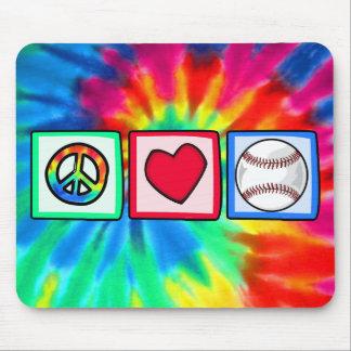 Peace, Love, Baseball Mouse Mat
