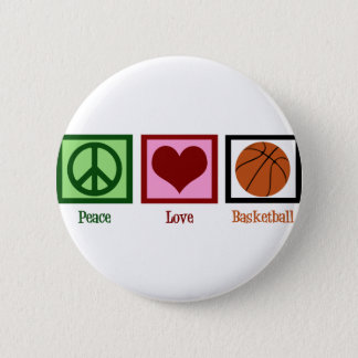 Peace Love Basketball 6 Cm Round Badge