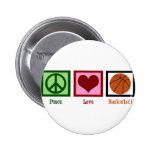 Peace Love Basketball Badge