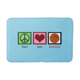 Peace Love Basketball Bath Mat