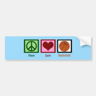 Peace Love Basketball Blue Bumper Sticker