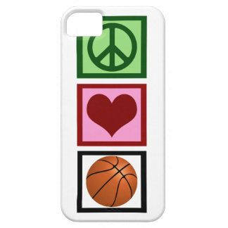 Peace Love Basketball Case For The iPhone 5