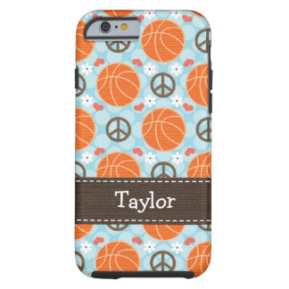 Peace Love Basketball iPhone 6 Tough Cov iPhone 6 Case