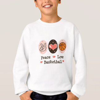 Peace Love Basketball Kids Sweatshirt