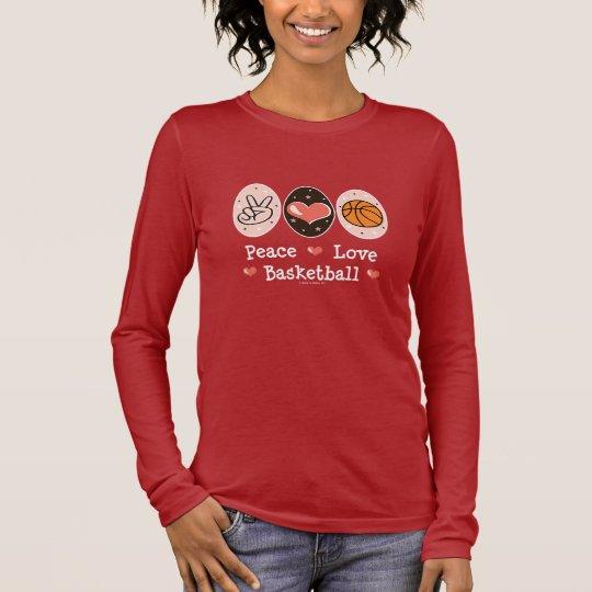 Peace Love Basketball Long Sleeve Tee