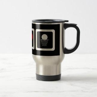 Peace love basketball coffee mug