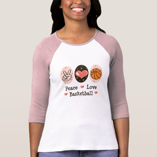 Peace Love Basketball Raglan T-shirt