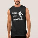 Peace Love Basketball Sleeveless T-shirts