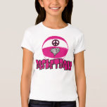 PEACE LOVE BASKETBALL ZEBRA T-Shirt