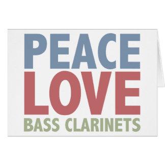 Peace Love Bass Clarinets Card