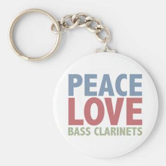 Peace Love Bass Clarinets Key Ring
