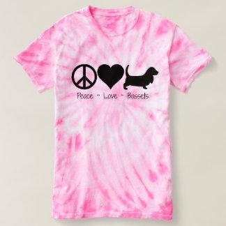 Peace Love Basset Hound 1 T Shirt