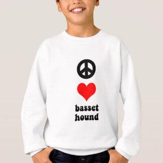 Peace love Basset Hound Sweatshirt