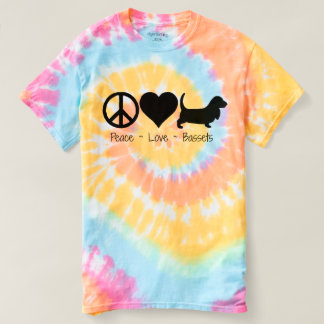 Peace Love Basset Hounds T Shirts