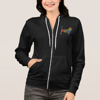 """Peace Love & Basset Hounds"" Womens Hoodie"