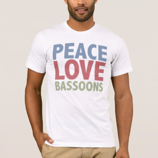 Peace Love Bassoons T-Shirt