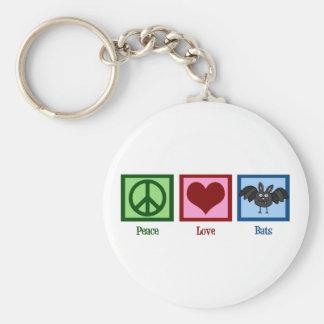Peace Love Bats Key Ring