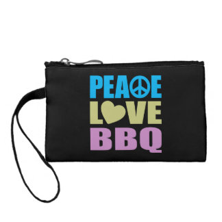 Peace Love BBQ Coin Wallets
