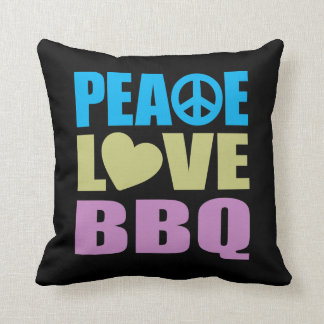 Peace Love BBQ Cushion