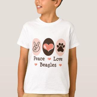 Peace Love Beagles Kids T shirt