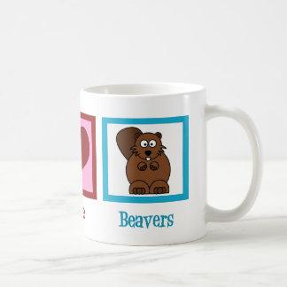 Peace Love Beavers Coffee Mug
