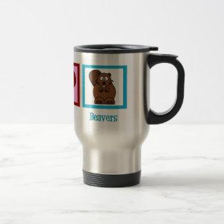 Peace Love Beavers Travel Mug