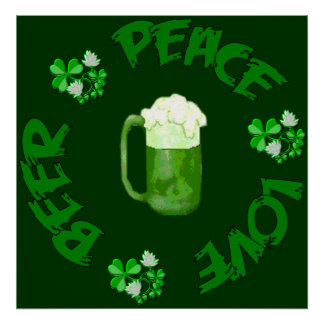 Peace Love Beer Poster