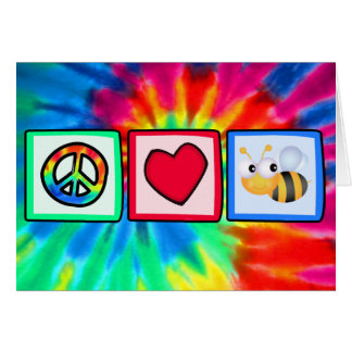 Peace, Love, Bees Greeting Cards