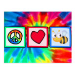 Peace, Love, Bees Postcard