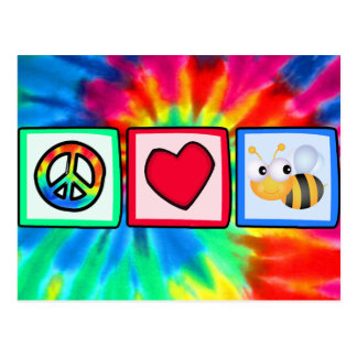 Peace, Love, Bees Postcard