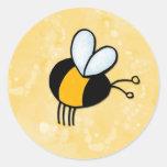 peace love bees round sticker
