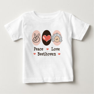 Peace Love Beethoven Baby T-shirt