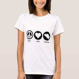 Peace Love Belgium T-Shirt