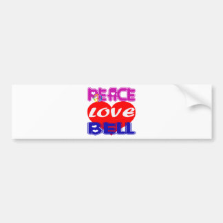 Peace Love Bell Bumper Stickers