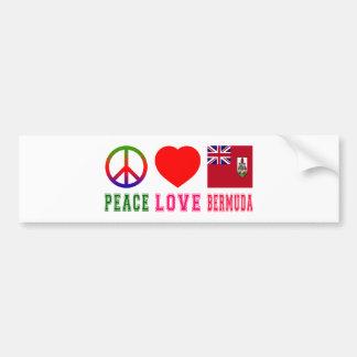 Peace Love Bermuda Bumper Sticker