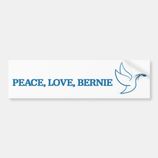 Peace. Love. Bernie. Bumper Sticker